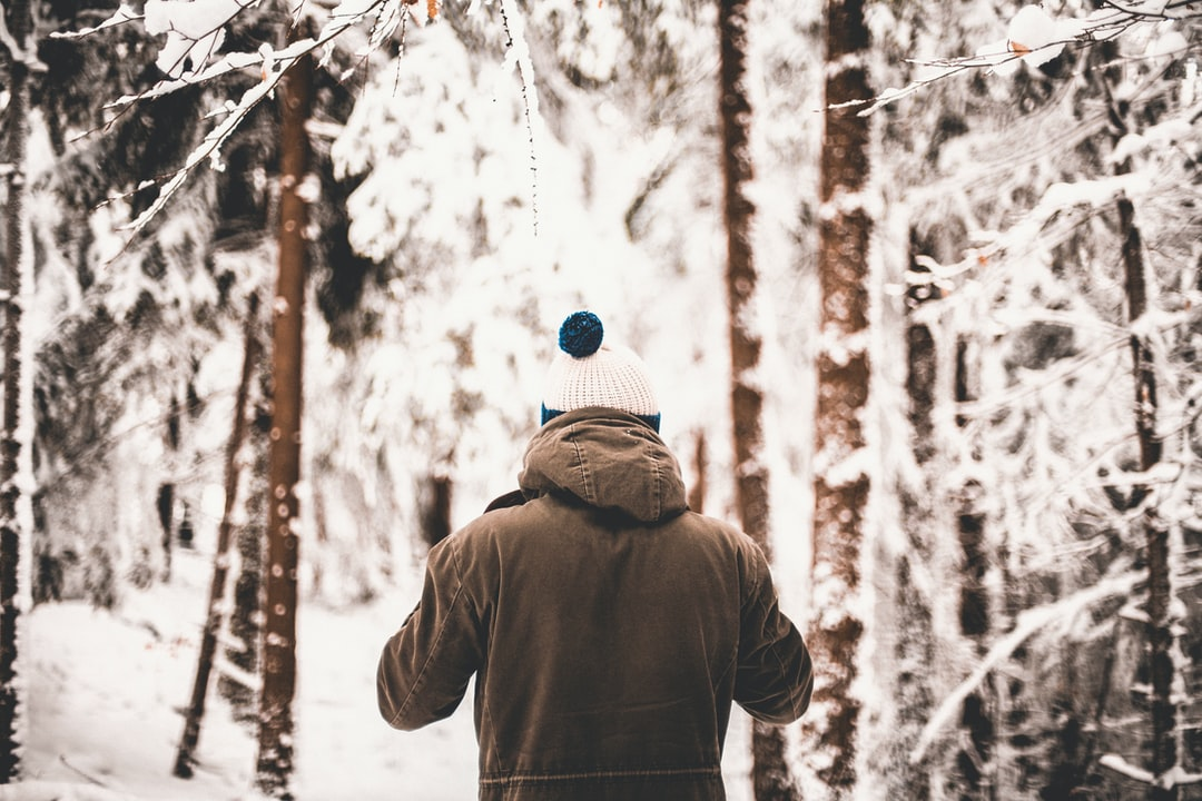 A person that is standing in the snow